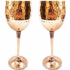 copper wine glasses set of 2 mosscoff