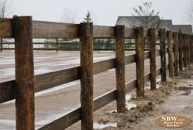 3 Rail Wood Fences Horse Farm Services