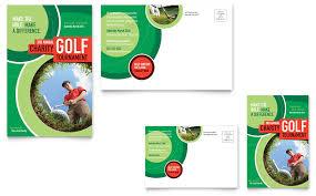 golf tournament postcard template