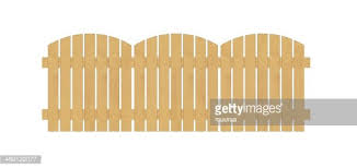 Round Fence Created From Wooden Laths On White Background Clipart Image