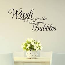 Decor Decals Stickers Vinyl Art Wash Away Your Trouble With Some Bubble Wall Sticker Decal Home Room Mural Decor Home Garden Vibranthns Lk