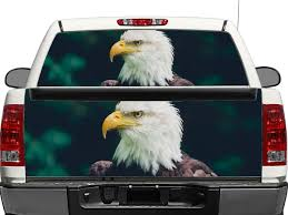 American Bald Eagle Rear Window Or Tailgate Decal Sticker Pick Up Truck Suv Car