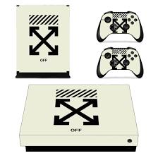 Offwhite Xbox One X Skin Sticker Vinyl Bundle Logo Designer Lab Co