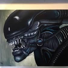 Alien Oil on panel -Chelsey Franklin- alien covenant | Maestros