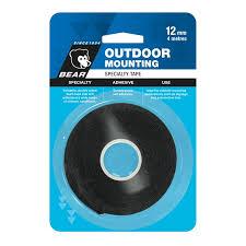 bear 12mm x 4m black outdoor mounting