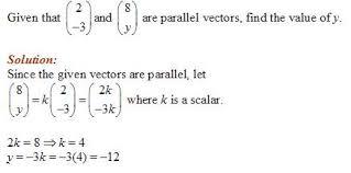 parallel vectors solutions examples