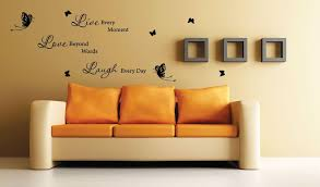 Furniture Motivational Wall Decal Quotes For Bedroom With Yellow Wall Paint Color Decorating Idea Wall Stickers Bedroom Small Shop Interior Wall Quotes Decals