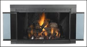 gas log glass doors for gas log fireplace