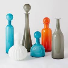 mid century glass vases