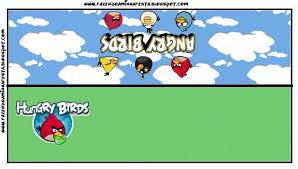 Tarjetas De Invitacion A Cumpleanos Angry Birds Para Fondo De