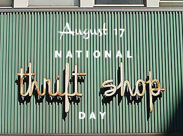 Image result for Images for National Thrift Shop Day 2019