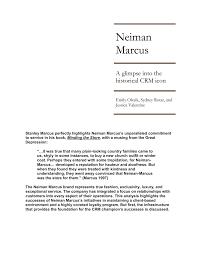 neiman marcus client relationships
