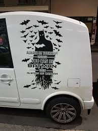 A Cool Car Decal Batman