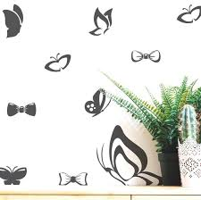 Butterfly And Bow Tie Wall Decal Set His And Hers Vinyl Etsy