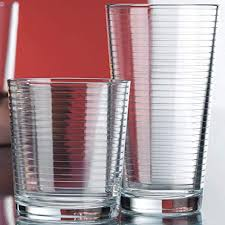 ribbed durable drinking glasses