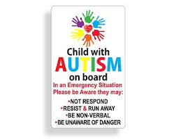 Autism Safety Decal Etsy