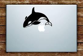 Amazon Com Orca Whale Laptop Decal Sticker Vinyl Art Quote Macbook Apple Decor Ocean Beach Fish Animal Home Kitchen