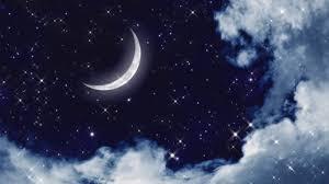 خلفية فيديو للمونتاج الليل القمر النجوم تصميمي جودة ودقة عالية