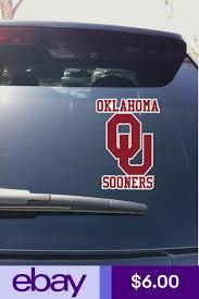 04 05 02 Oklahoma Sooner Logo Vinyl Decal Sticker Car Window Big 12 Vinyl Decals Vinyl Decal Stickers Ebay