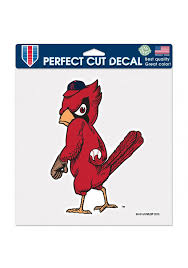 St Louis Cardinals 8x8 Inch Perfect Cut Cooperstown Auto Decal Red 5716081