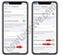 led flash for alerts on iphone xr