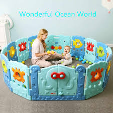Children Play Fence Indoor Baby Playpens Outdoor Ocean Word Fence Kids Activity Gear Environmental Safety Play Yard Baby Playpens Aliexpress