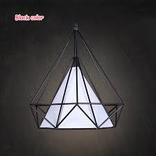 black white birdcage pendant lights