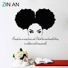 Tribal African Woman Decal Beauty Quote Beautiful Afro Girl Home Decor Vango Decals