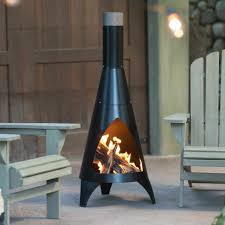 wood burning fireplace fire patio pit