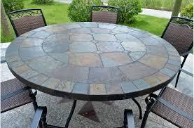 beauty of slate patio table designs