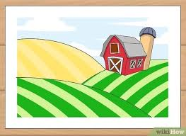 How To Draw A Farm 7 Steps With Pictures Wikihow