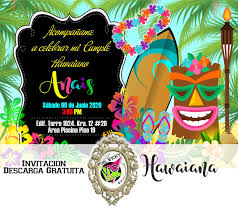 Taller Creativo Vic Art Invitacion Hawaiana Jpg