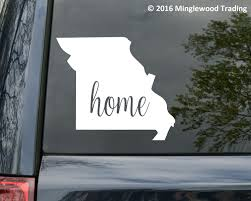 Missouri Vinyl Decal Sticker Mo Home State Etsy Vinyl Decals Vinyl Decal Stickers Missouri