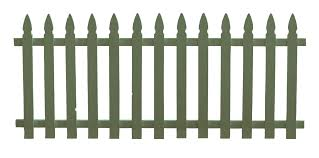 Transparent White Picket Fence Clipart Clip Art Library