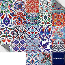 Turkish Tile Stickers For Kitchen Batroon Backsplash Stair Riser Decal Peel Stick Home Decor Pack Of 44 4 X 4 Amazon Com