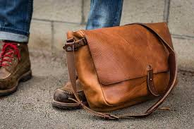 leather bag or purse with washing machine