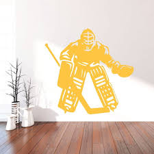 Hockey Goalie Wall Decal Vinyl Decor Wall Decal Customvinyldecor Com