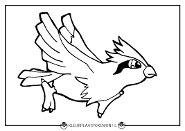 Pidgey Kleurplaten Gratis Printen Kleurplaat Pokemon