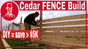 How To Build A Wood Fence With Horizontal Cedar Fence Boards Youtube