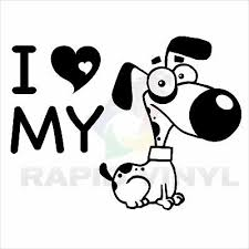 2 I Love My Morkie Dog Breed Stickers Decal Car Bumper Rv Truck Laptop Window