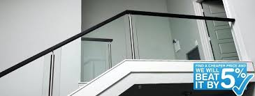 modern staircase cost glass railings