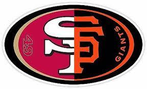 San Francisco Giants 49ers Fan Football Baseball Vinyl Sticker Decal Car Bumper Ebay