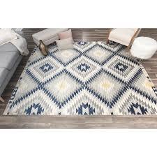 cosmopolitan nala blue grey area rug