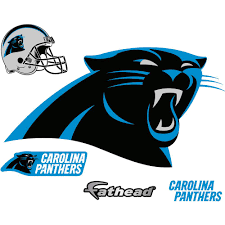 Fathead 31 In H X 57 In W Carolina Panthers Logo Wall Mural 14 14238 The Home Depot