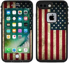 Amazon Com Teleskins Protective Designer Vinyl Skin Decals Stickers Compatible With Lifeproof Fre Iphone 7 Plus Iphone 8 Plus Case Grunge Usa American Flag Design Patterns Only Skins And Not Case