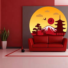 Shop Sun Fuji Japan Full Color Wall Decal Sticker K 367 Frst Size 52 X52 Overstock 20903844