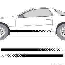 Chevy Camaro Faded Rocker Panel Stripes 3m Vinyl Decal Kit