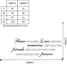 home love memories friends forever family quote wall stickers