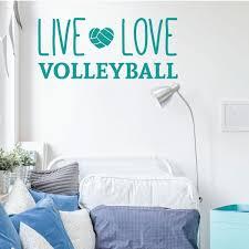 Volleyball Wall Decal Live Vinyl Decor Wall Decal Customvinyldecor Com