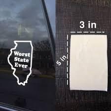 Illinois Sucks Worst State Ever Vinyl Decal Car Window Sticker Ebay